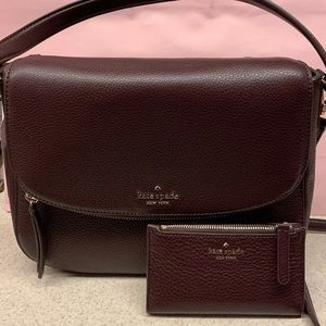 NWT Kate Spade Burgundy Jackson Bag Set